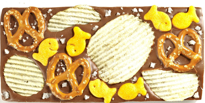 Potato Chip Pretzel Goldfish Chocolate Bar