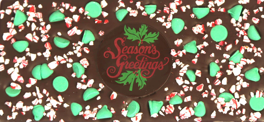 Season's Greetings Mint Chip Chocolate Bar