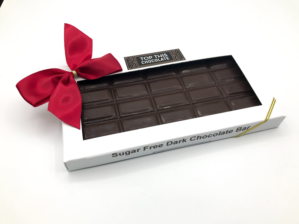 Sugar Free Dark Chocolate Bar with Bow