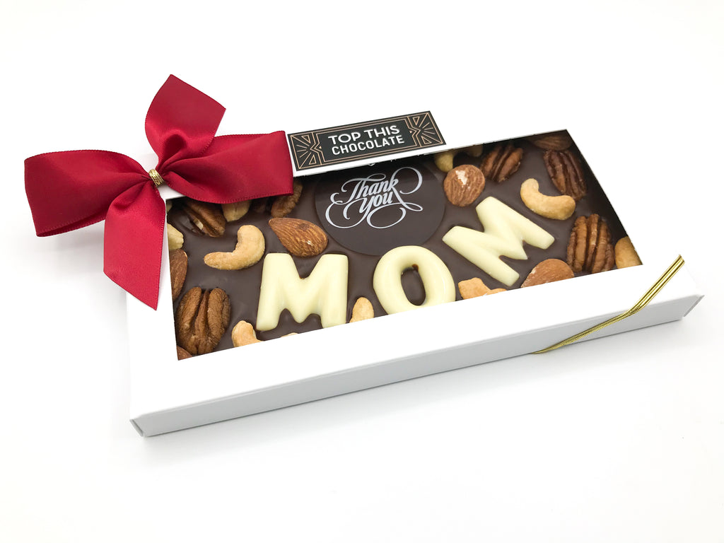 Thank You MOM Chocolate Bar with Bow