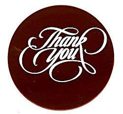 Thank You Dark Chocolate Plaque