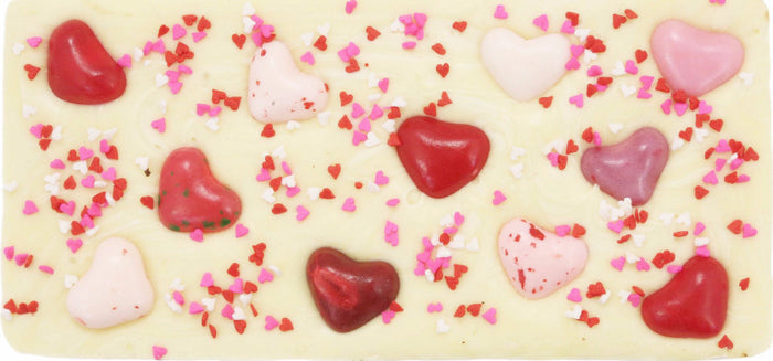 Jelly Bean Hearts & Sprinkles White Chocolate Bar