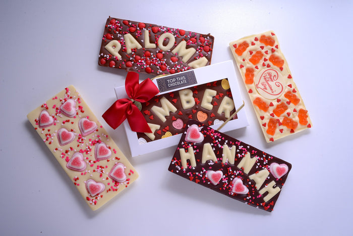 Valentine's Day Chocolate Bars with Names