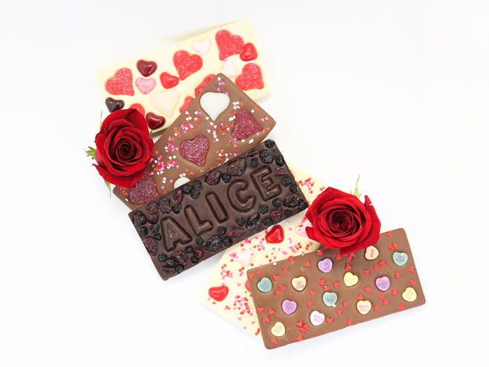 Valentine's Day Chocolate Bars with Name