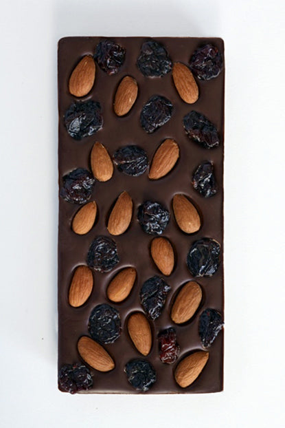 Almond Cherry Dark Chocolate Bar