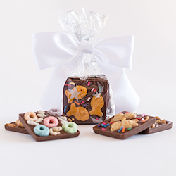 Bag of 6 Chocolate Squares with Bow
