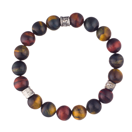 Tiger Eye Crystal Bracelet with Nickel Accents