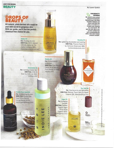Our 100% Natural Ultimate Jojoba Featured in KIWI Magazine - March 2016