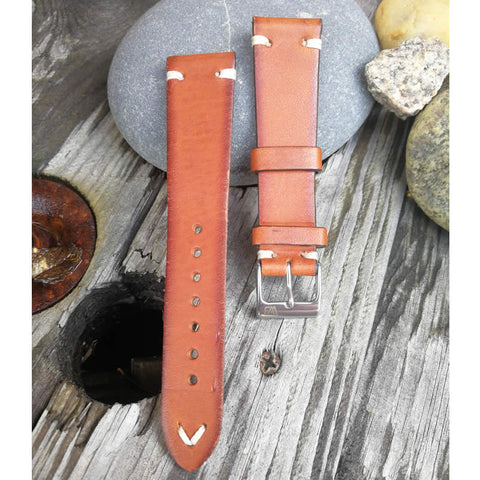 A possible leather strap for our watch