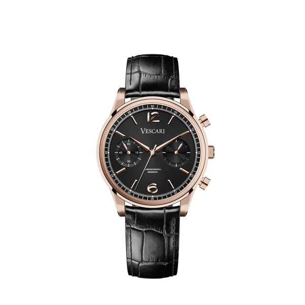 The Chestor Rosegold/Black - Black-authentic.dk