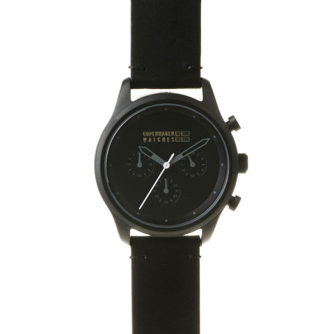 Copenhagen Watches - Sport chrono black-authentic.dk