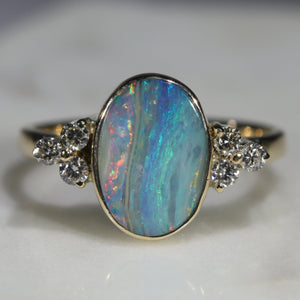 Natural Opal Gold Ring