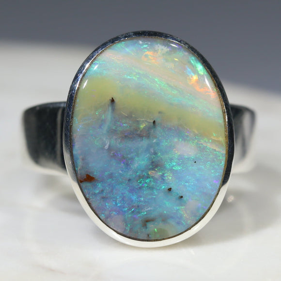 Natural opal the beach ring