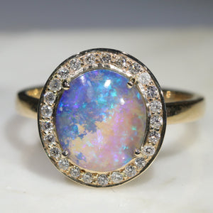 Opal Anniversary Ring