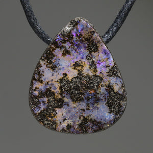 Natural Australian Boulder Opal Pendant (Length 25mm x Width 20mm) Code-SD317