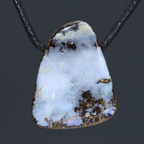 Natural Australian Boulder Opal Pendant (Length 23mm x Width 19mm) Code-SD354