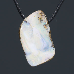 Natural Australian Boulder Opal Pendant (Length 30mm x Width 16mm) Code-SD321