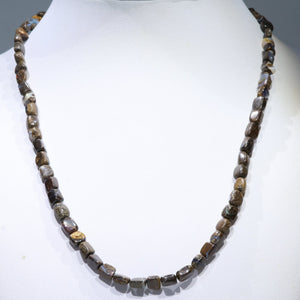 "Boulder Opal 19"" Long, Beaded Necklace Code-No108"