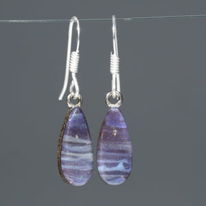 Silver Opal Drop Earrings