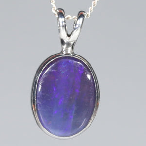 Natural Australian Boulder Opal  Silver Pendant with Silver Chain Code -SPA272