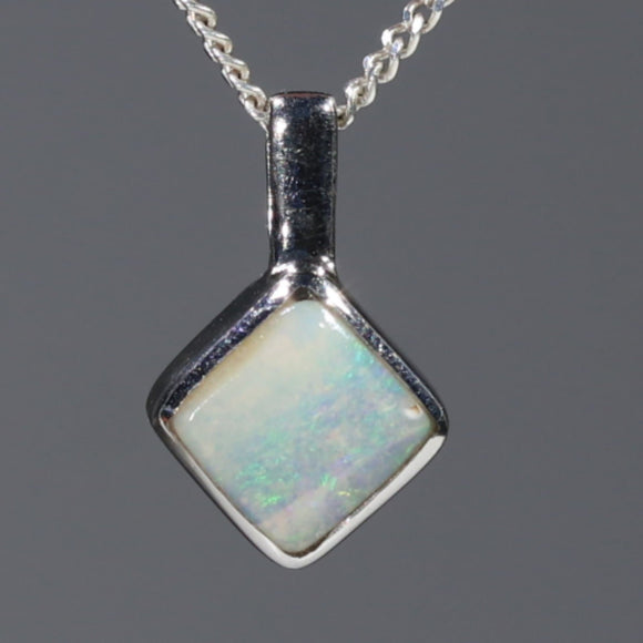 Natural Australian Boulder Opal Silver Pendant with Silver Chain Code -SDA242