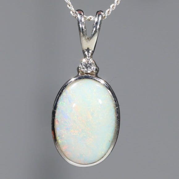 Natural White Opal Pendant