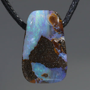 Natural Australian Boulder Opal Pendant (length 20mm x width 12mm) Code-SD419