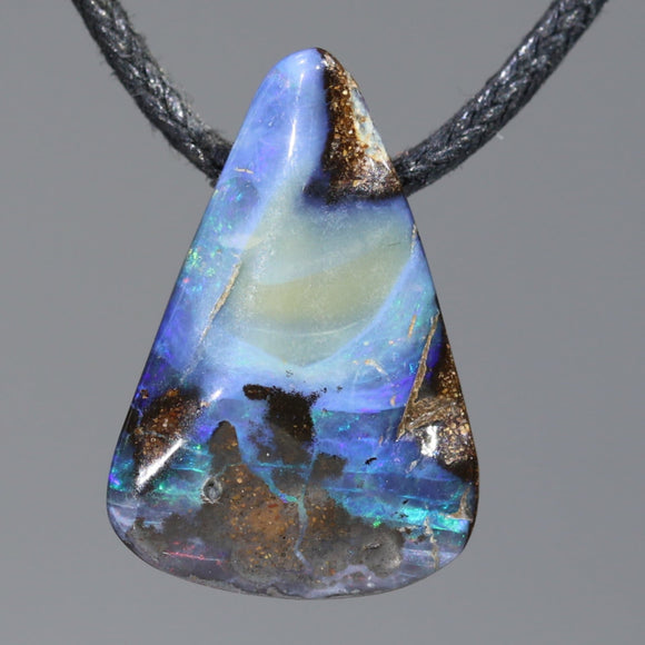 Natural Australian Boulder Opal Pendant (length 23mm x width 15mm) Code-SD442