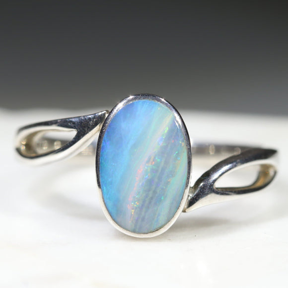 Sterling Silver Blue Opal Ring