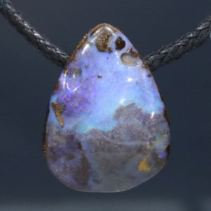 Natural opal hippy pendant