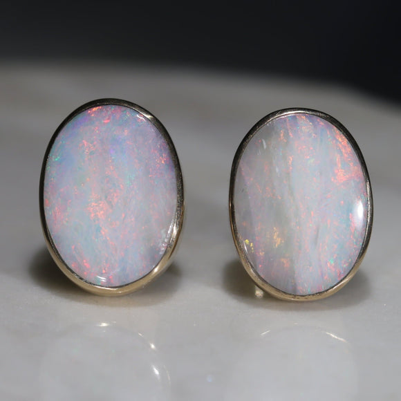 Birthstone Opal Earrings