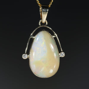 Natural opal honey gold pendant
