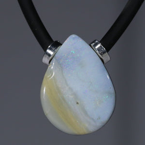 Natural opal calming magnetic pendant