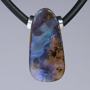 Australian Boulder Opal with Magnetic Clasp Necklace