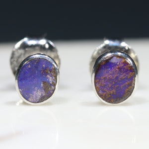 Australian Boulder Opal Earrings