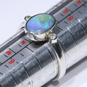 SILVER OPAL RING RESIZING
