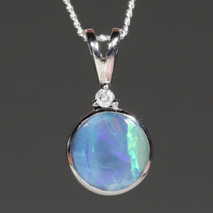 Silver and Green Opal Pendant
