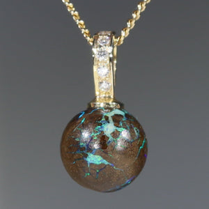 Matrix Opal Necklace Pendant