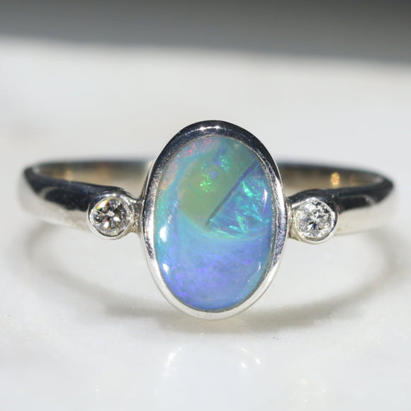 Beautiful Australian Opal Ring