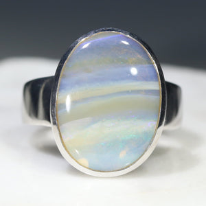 Big Oval Opal Ring