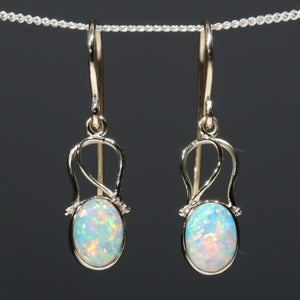 Genuine Crystal Opal Earrings