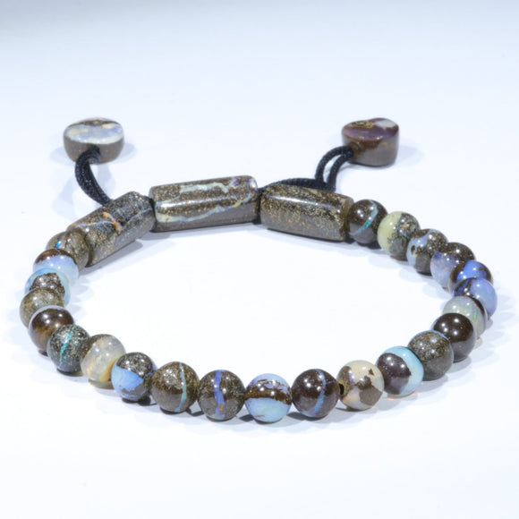 Natural Boulder Opal Adjustable Bracelet
