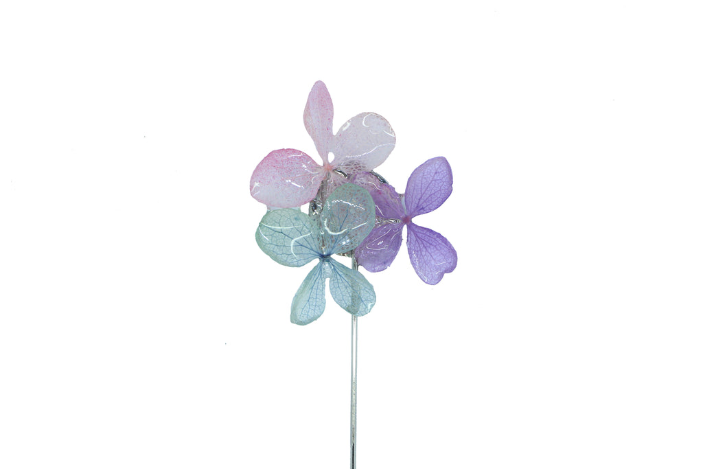Julie Flower lapel pin (F/W 2017) Blue, Purple and Pink