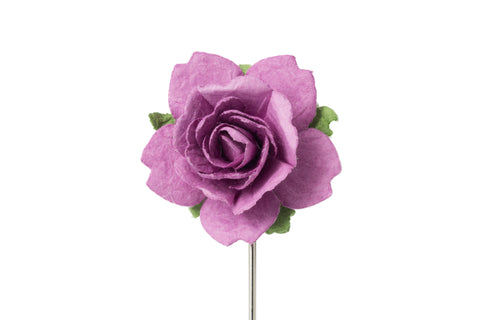 Christina Black/Pink Flower Lapel Pin (S/S 2015)