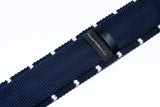 Hermosa Navy Blue with White Stripes Knitted Tie