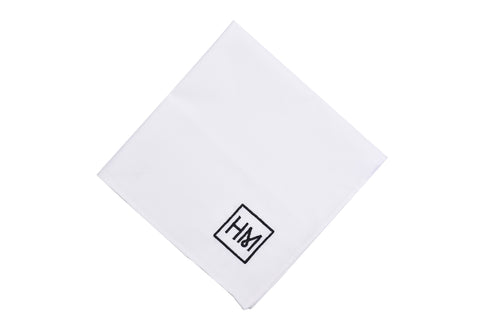 Howard Matthews Co. Classic White Pocket Square
