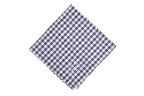 Howard Matthews Co. Navy Blue with White Polka Dots Wilshire Pocket Square