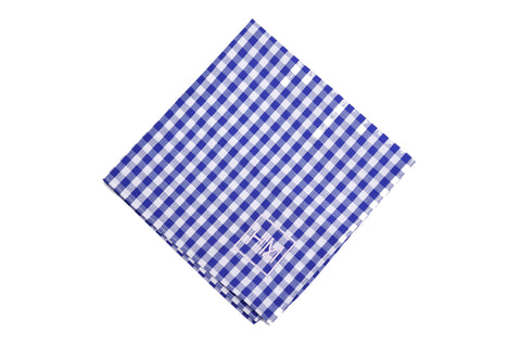 Howard Matthews Co. Gingham Black Dundas Pocket Square