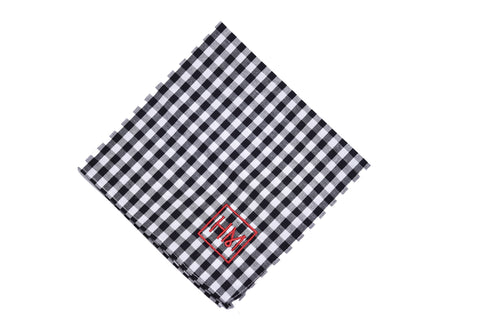 Howard Matthews Co. Gingham Royal Blue Richmond Pocket Square