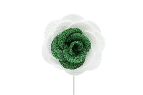 Karen Silver Flower Lapel Pin (S/S 2015)